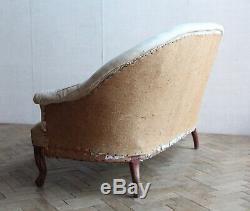 Vintage Antique Napoleon III French Tub Sofa Victorian