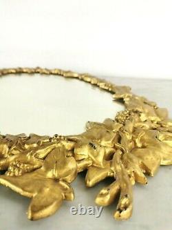 Vintage Antique Victorian French Cast Metal Gilt Gold Framed Oval Mirror