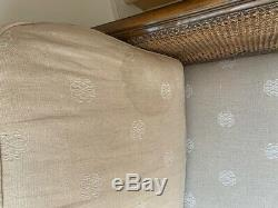 Vintage French Bergere Sofa, ball and claw feet. Shabby chic