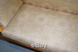 Vintage Gold Leaf Painted Regency French Style Three Sofa Ornate Continental