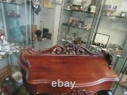 Wonderful Antique French Carved Mahogany Console Table With Draw Cabriol Legs