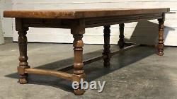 Wonderful Large French Oak Farmhouse Dining Table C1850 Lovely Original Patina